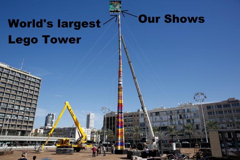 worlds tallest legos